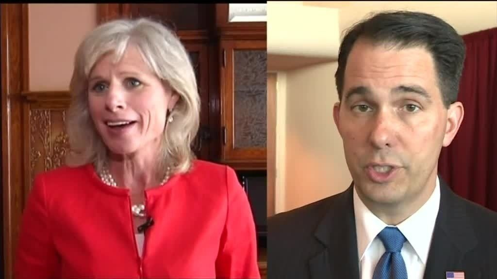 Walker, Burke make stops in La Crosse