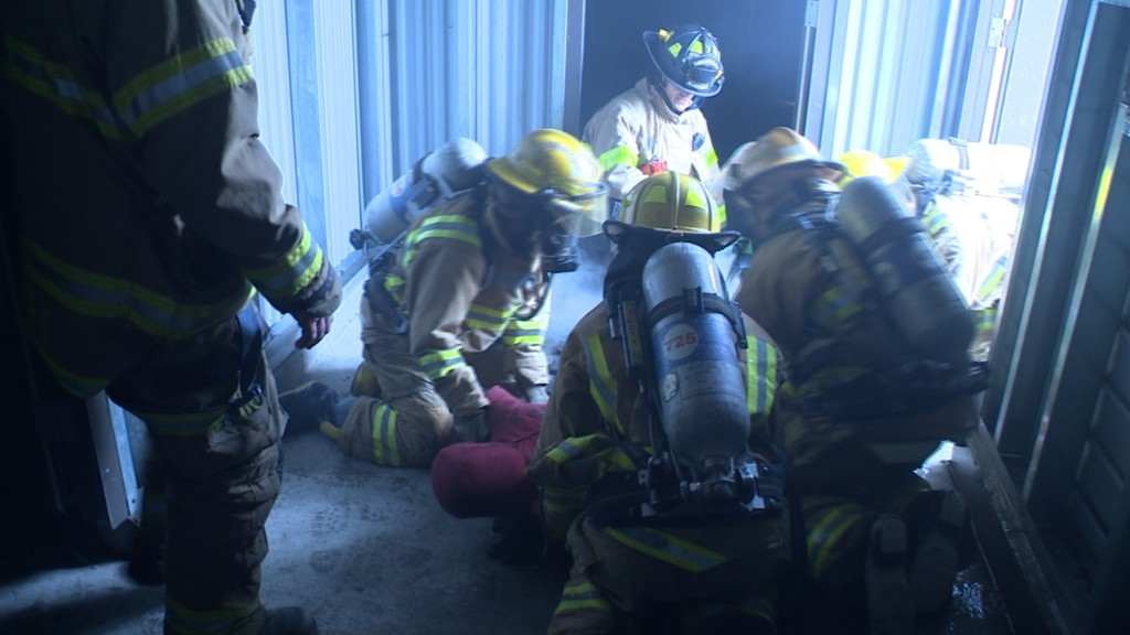 Health care professionals get hands-on firefighter training as part of new partnership