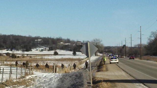 Deputies look for possible evidence on Hwy 14 from Mazomanie homicide