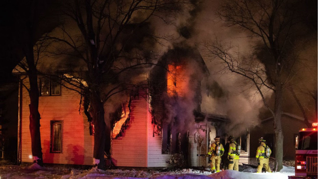 Mazomanie family's home destroyed by overnight fire