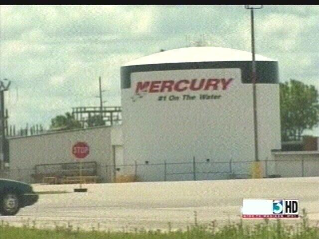 Mercury Marine plant temporarily evacuated
