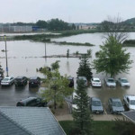 'Safe but anxious': Some stranded in Middleton businesses by flood waters