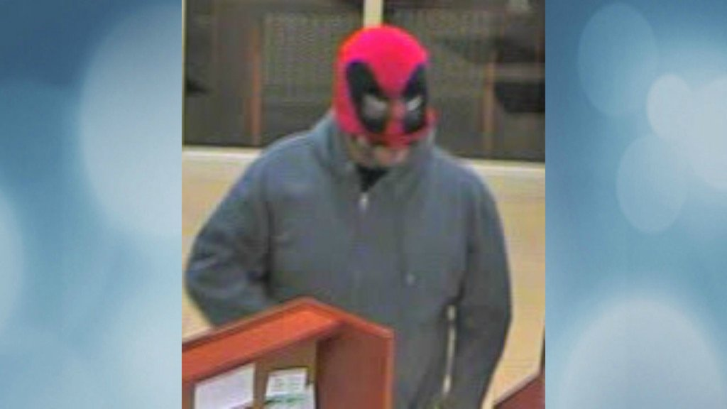 Middleton police looking for armed bank robber last seen wearing 'Deadpool' mask