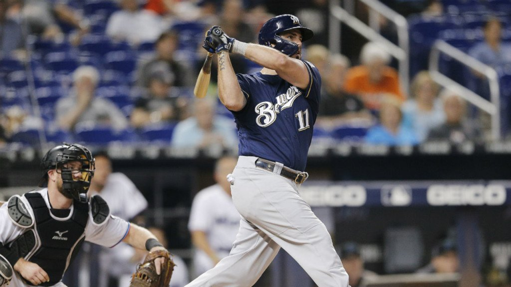 Moustakas leads Brewers to sixth straight win, 7-5 in Miami