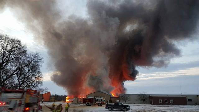 Fire causes $2 million in damage to Lyndon Station lumber mill