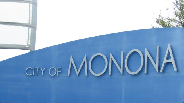 Gas main repair closes Monona Drive