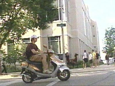 UW-Madison is curtailing students' moped use