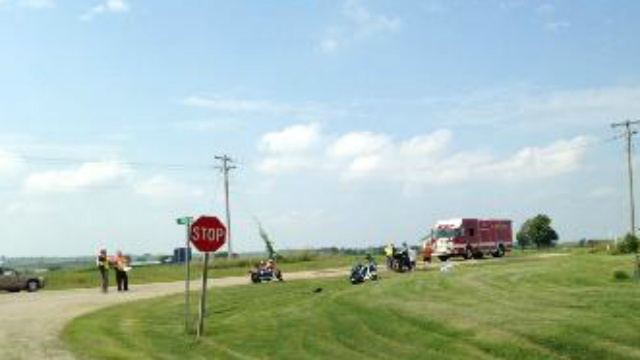 Motorcyclists render aid to man after New Glarus crash