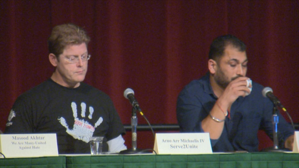Ex-white supremacist, son of Sikh temple shooting victim talk hate at Madison event