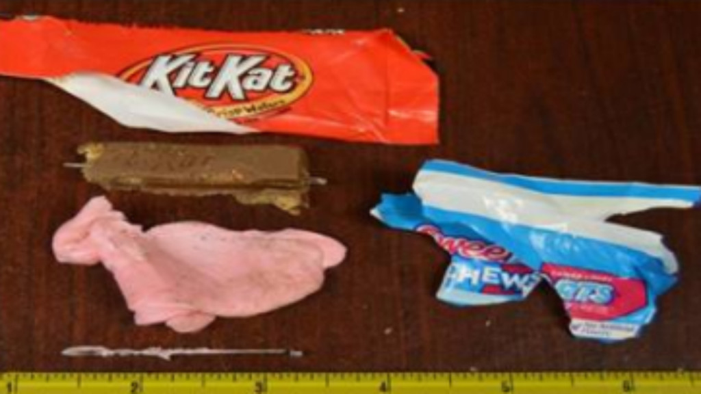 Parents find sewing needles in Halloween candy, police say