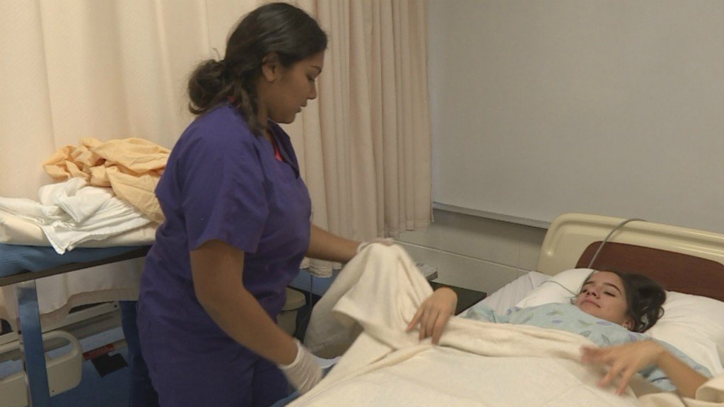 Amid nursing shortage, nursing assistant class gives high schoolers head start