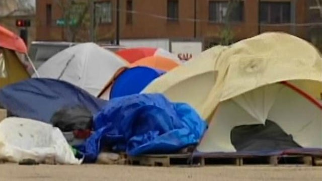 Occupy Madison group returns to former site