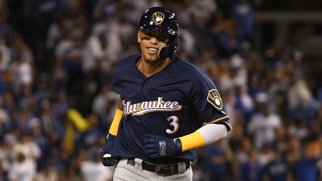 Hiura, Arcia collide in 8th inning; Brewers lose, 12-2