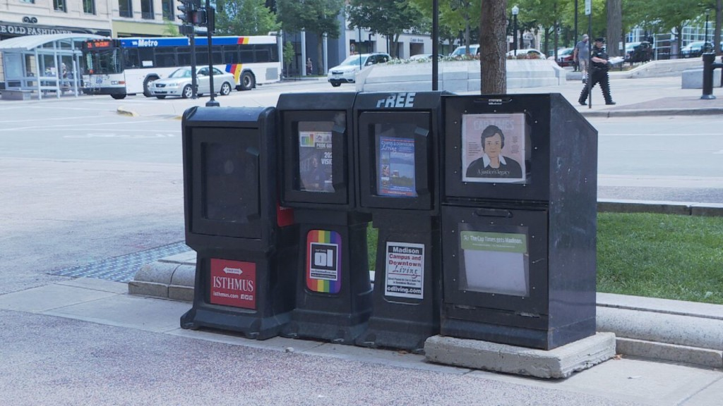 Boxes holding LGBT publication repeatedly vandalized; anti-gay slurs written on magazines
