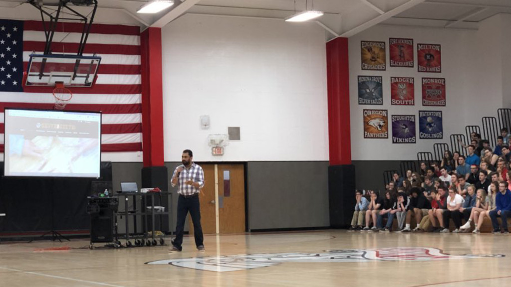 Brought together by a hate crime: 'Serve 2 Unite' delivers message at Mount Horeb High School