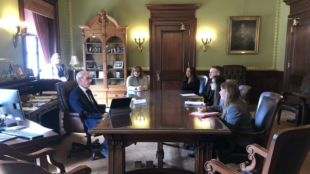 Janesville students meet with Gov. Evers for project on state governmental issues
