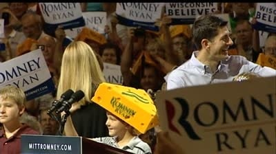 Supporters give Ryan loud send-off at Janesville rally
