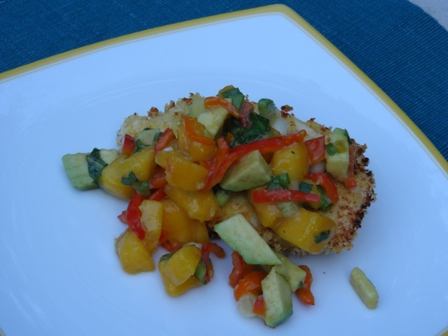 Donna's Peach, Pepper & Avocado Salsa