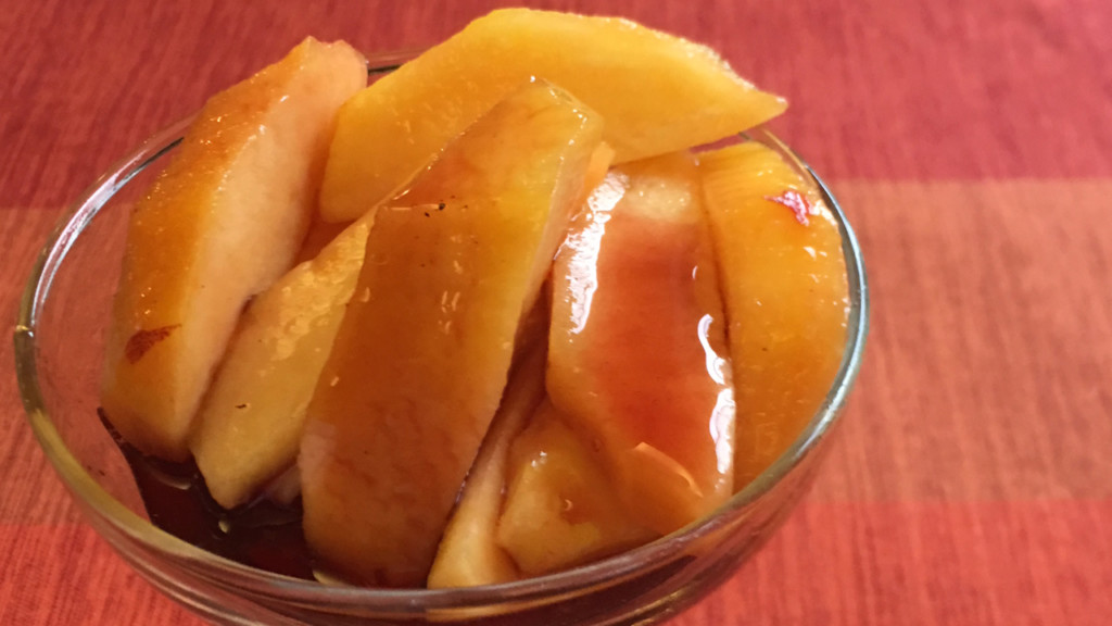Donna's Fresh Peaches in Port Wine Sauce