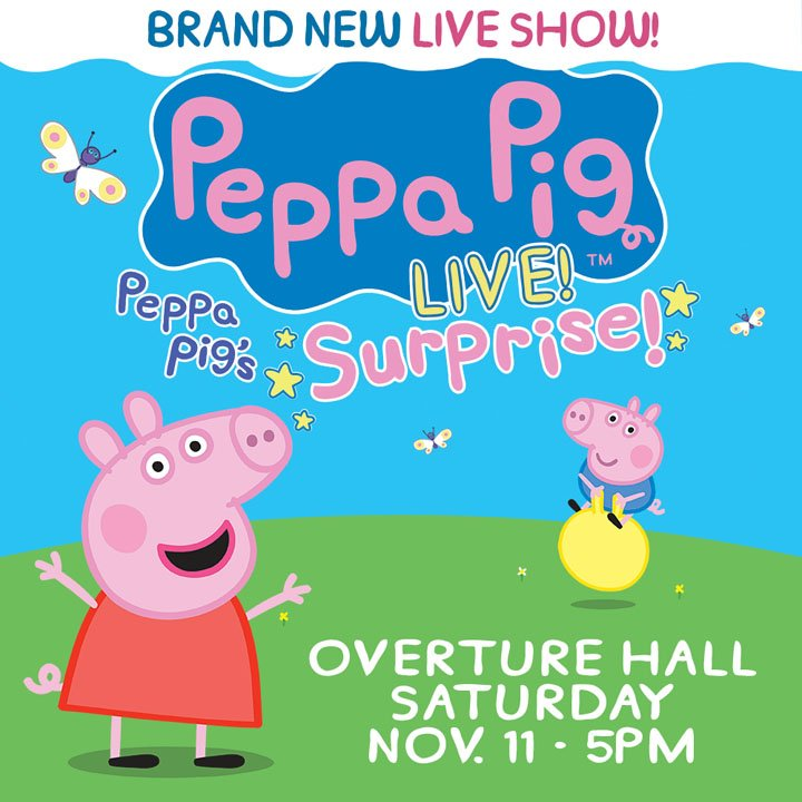 'Peppa Pig Live!' coming to Overture Center