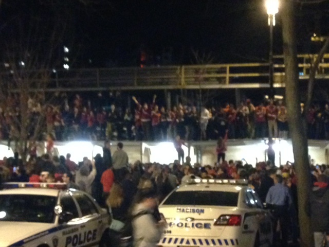 MPD preps for Badgers win; Mounted unit to help