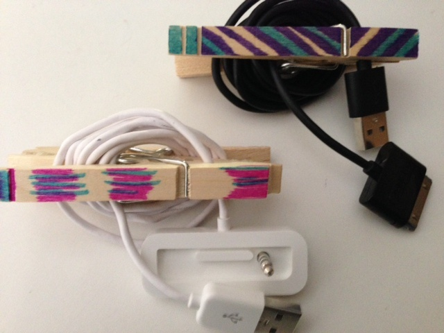 Make-your-own cord organizers are cute, cheap, functional
