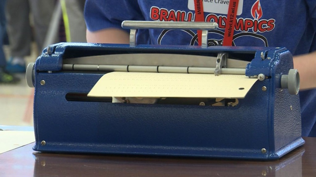 Students from across the state compete in Braille Olympics