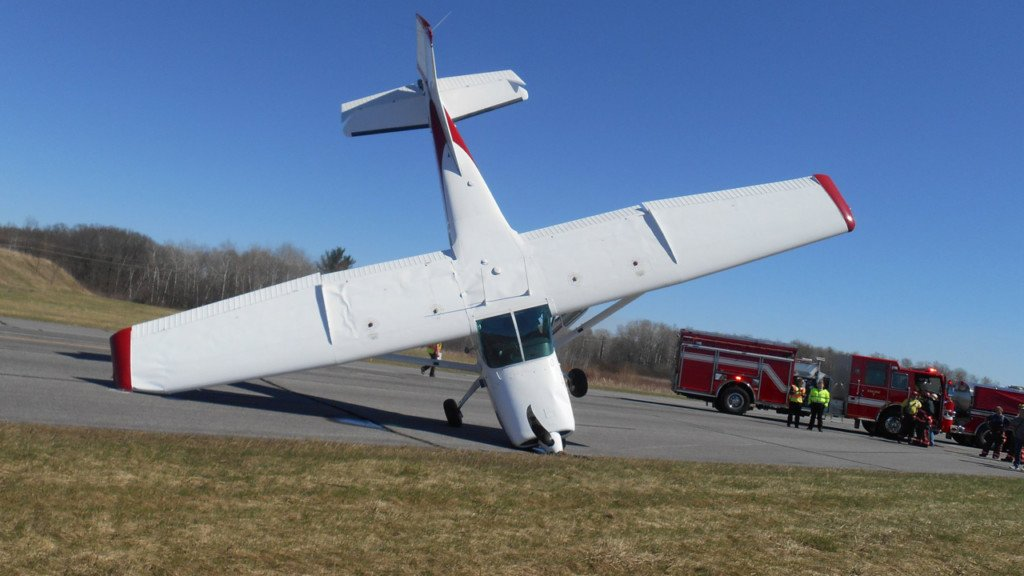 Pilot loses control of plane, crashes nose down at Reedsburg Airport, police say