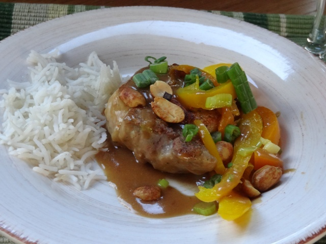 Donna's Pork Medallions with Honey Peanut Sauce