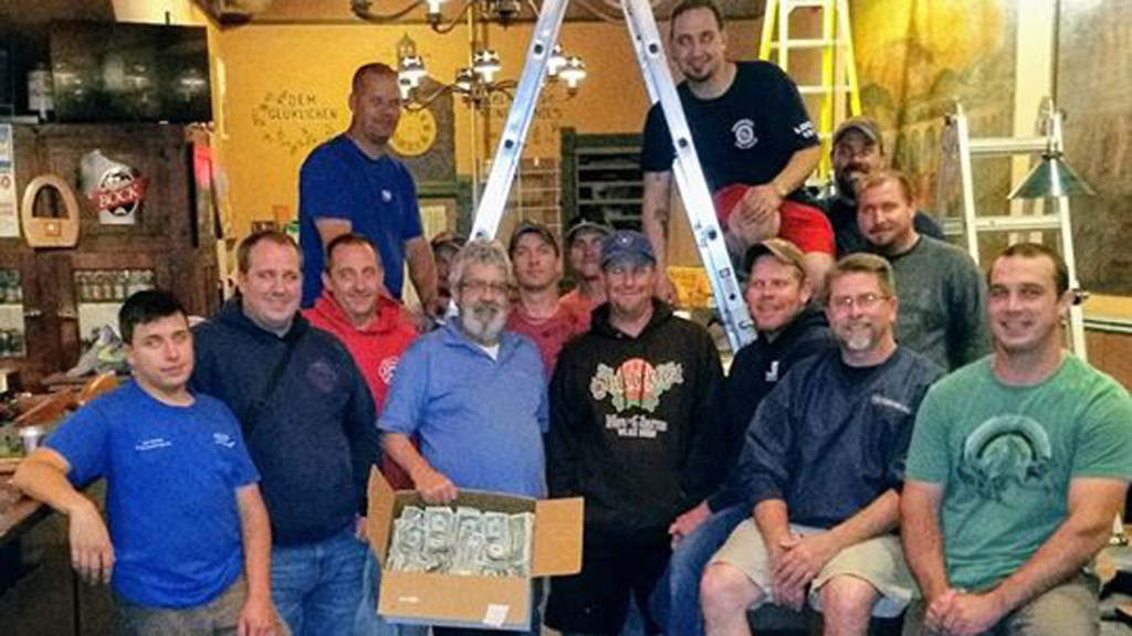 New Glarus bar donates to firefighters who helped save it