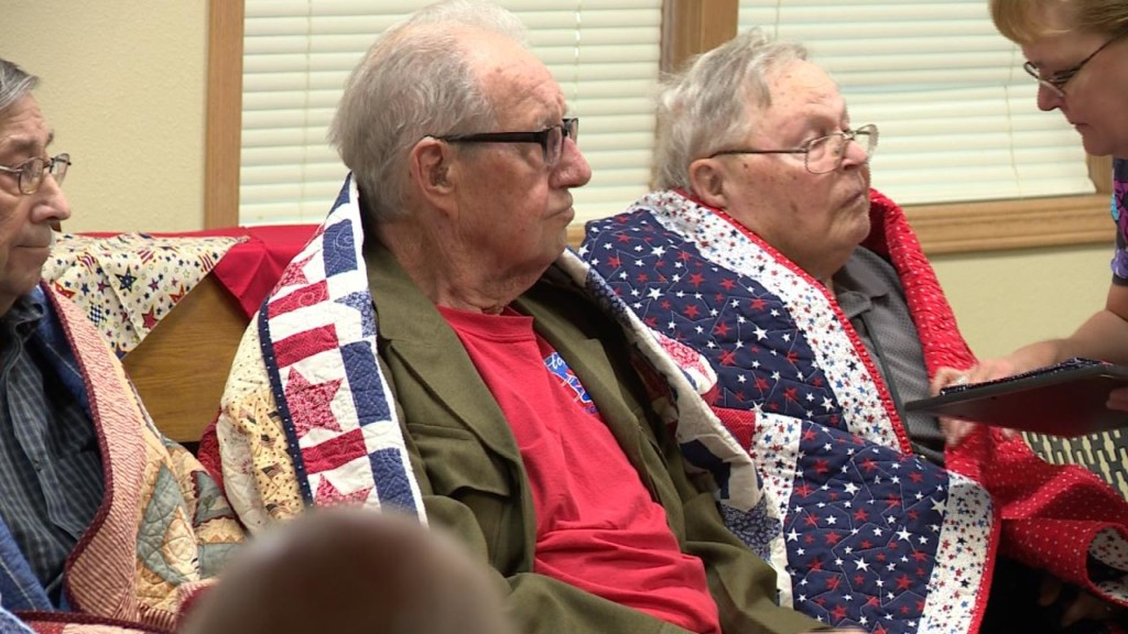 Quilts of Valor honors veterans with patchwork blankets