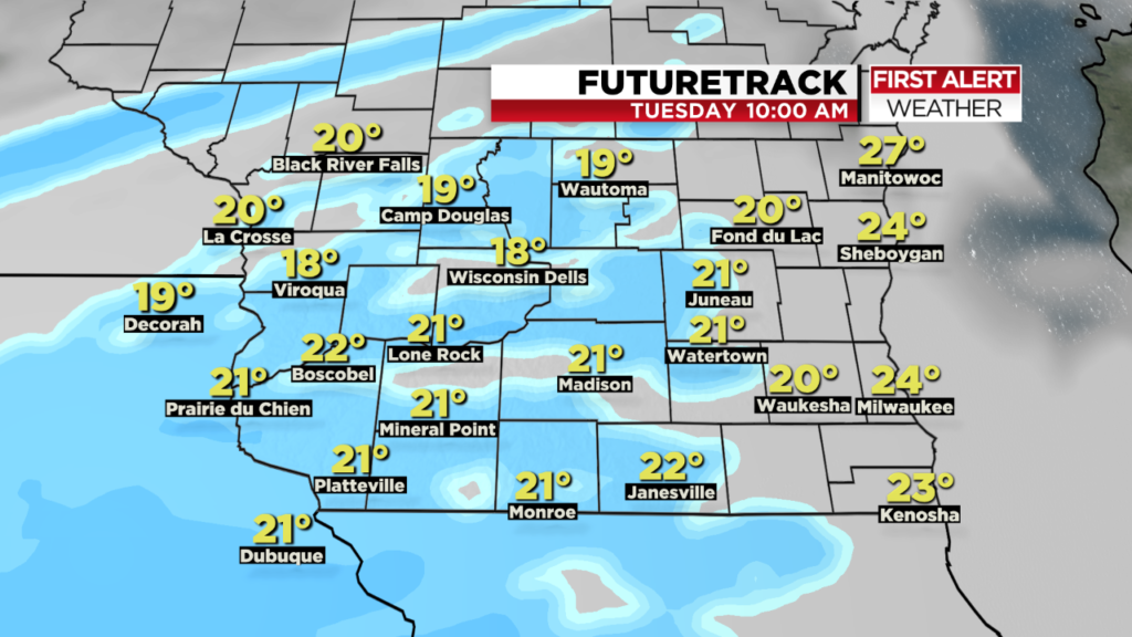 5-10 inches of snow expected Tuesday, with heaviest snowfall overnight