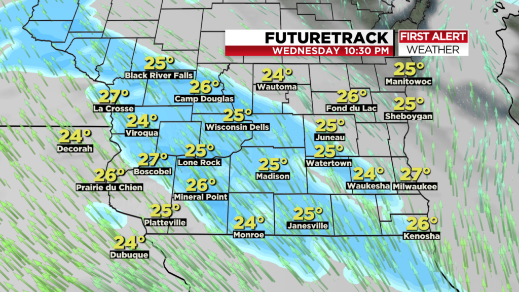 Light accumulating snow likely Wednesday