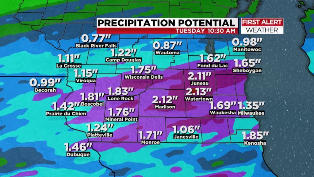 Severe storms, heavy rain possible Monday afternoon