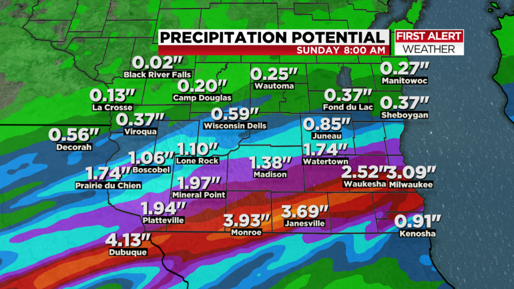 Heavy rain, flash flooding returns to south central Wisconsin