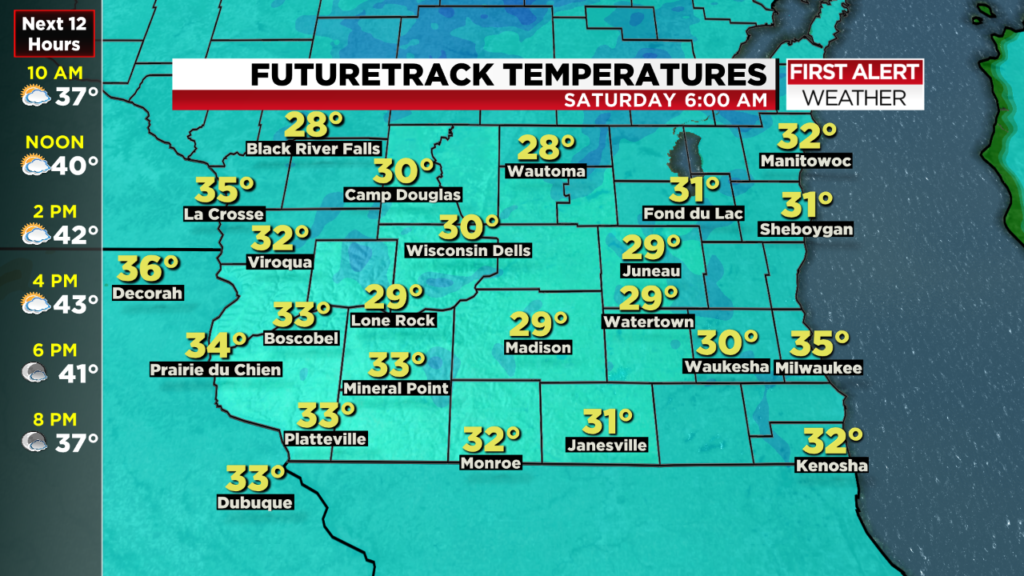 Temperatures in the 20s, first frost possible Friday night