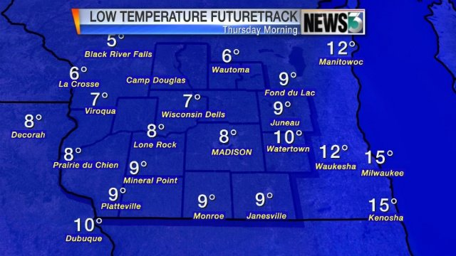Thursday low temps could reach 100-year record