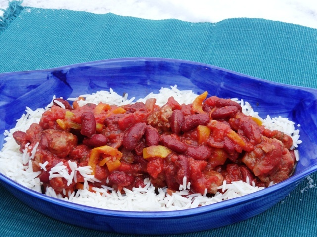 Red Beans and Rice with Spicy Cajun Sausage