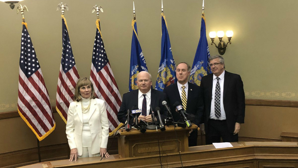 Republican leaders 'disappointed' by Evers' partial vetoes but 'pleased' he signed budget