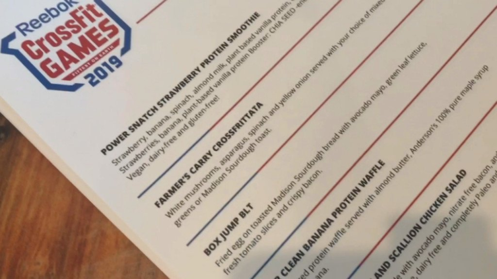 Restaurants create special CrossFit Games menus for athletes' nutritional needs