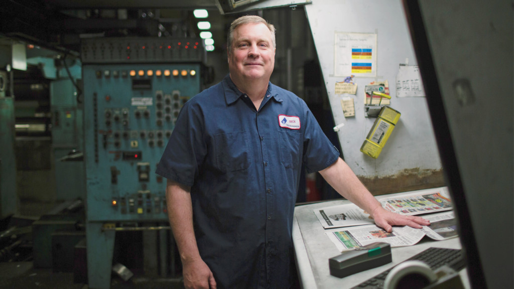 Meet Rick Smith, a colorblind pressman