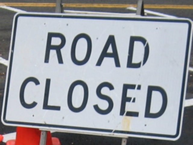 Construction work will close near west intersection