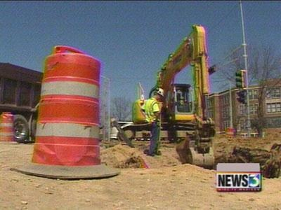 Hot, dry weather push road projects forward
