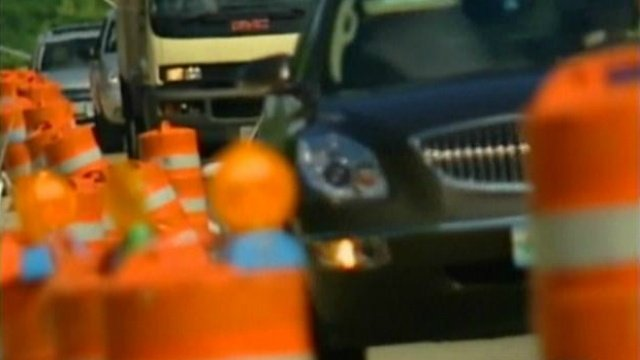 Road construction crews feel the heat of summer