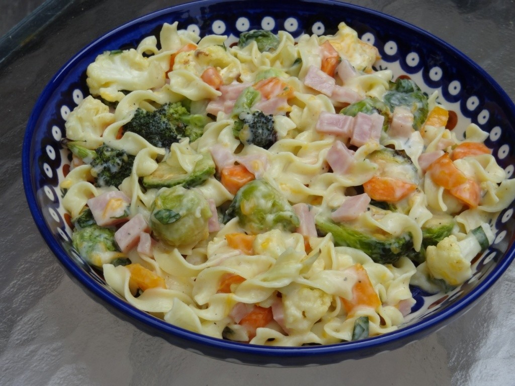 Donna's Roasted Fall Vegetable & Ham Casserole