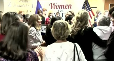 VIDEO: Protester spits on Romney supporter at Wis. event