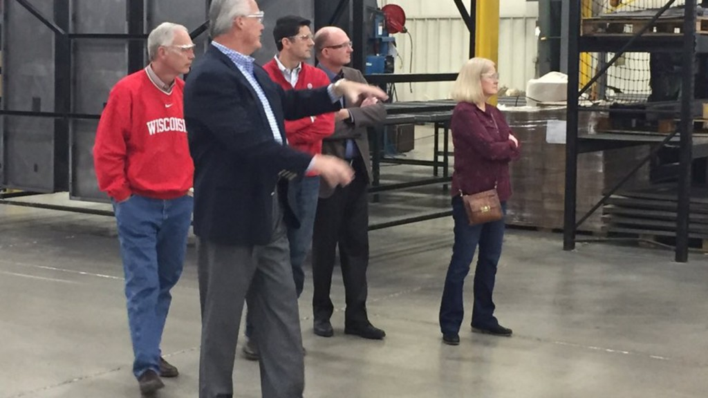Johnson, Ryan tour Janesville steel product manufacturer