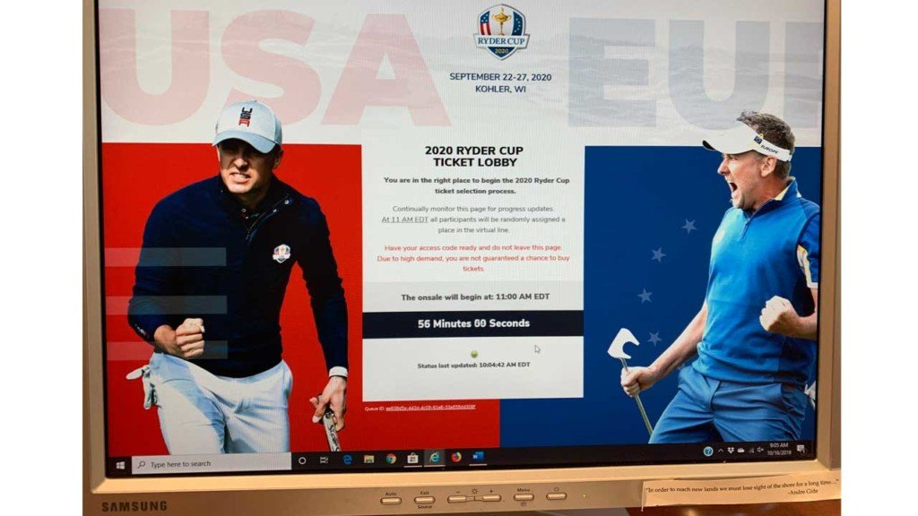 2020 Ryder Cup opens with a double bogey