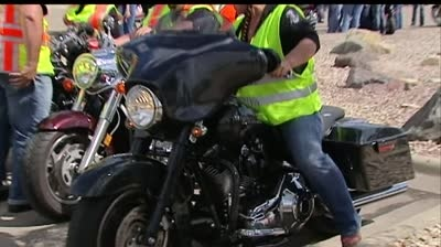 Bikers ride to help abused children