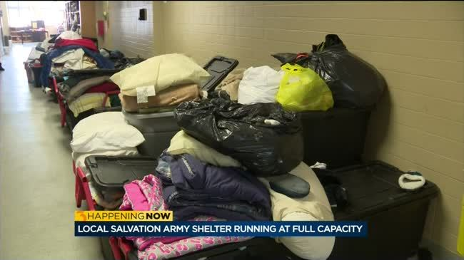 Salvation Army shelters reach capacity as temperatures plummet